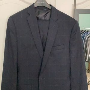 Other - Jos a bank navy window pane 40L suit slim fit